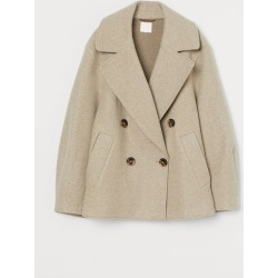 H & M - Double-breasted Jacket - Beige