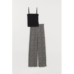 H & M - Pajama Camisole Top and Pants - Black