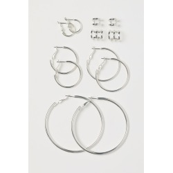 H & M - Hoop Earrings and Ear Cuffs - Silver found on Bargain Bro from H&M (US) for USD $9.87