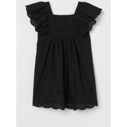 H & M - Eyelet Embroidery-detail Dress - Black found on Bargain Bro from H&M (US) for USD $22.79