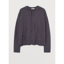 H & M - Wool-blend Sweater Hoodie - Purple found on Bargain Bro Philippines from H&M (US) for $29.99