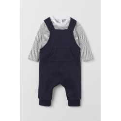 H & M - Bib Overalls and Top - Blue