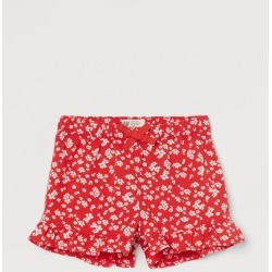 H & M - Ruffle-trimmed Shorts - Red found on Bargain Bro from H&M (US) for USD $7.59