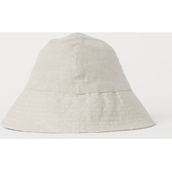 H & M - Linen Sun Hat - Beige found on Bargain Bro from H&M (US) for USD $11.39