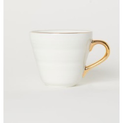 H & M - Small Porcelain Cup - White