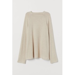 H & M - H & M+ Stand-up Collar Top - Beige