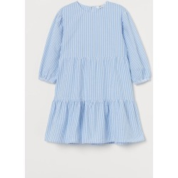 H & M - Puff-sleeved Dress - Blue found on Bargain Bro from H&M (US) for USD $15.19