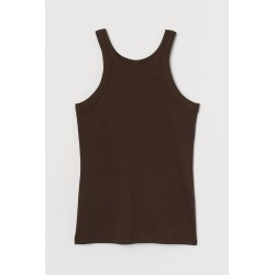 H & M - Ribbed Tank Top - Brown found on Bargain Bro from H&M (US) for USD $6.07
