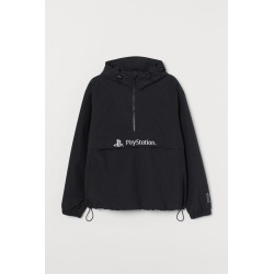 H & M - Printed Windbreaker - Black found on Bargain Bro from H&M (US) for USD $37.99
