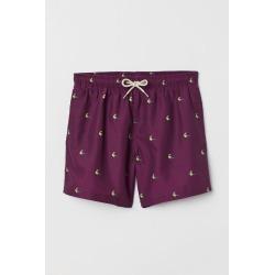 H & M - Printed Swim Shorts - Purple