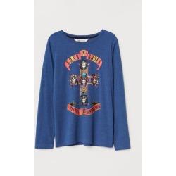 H & M - Long-sleeved Shirt - Blue
