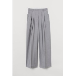 H & M - Wide-leg Twill Pants - Gray found on Bargain Bro Philippines from H&M (US) for $59.99