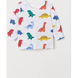 H & M - Long-sleeved Shirt - White