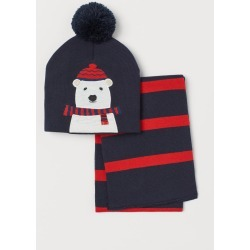 H & M - Hat and Scarf - Blue