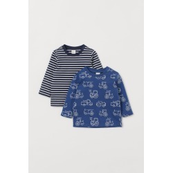 H & M - 2-pack Jersey Shirts - Blue