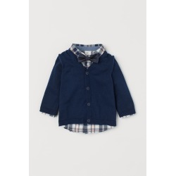 H & M - Cardigan and Shirt - Blue