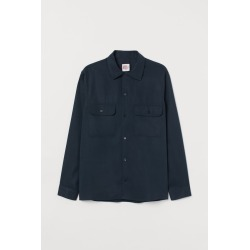 H & M - Resort-collar Shirt - Blue found on Bargain Bro India from H&M (US) for $34.99