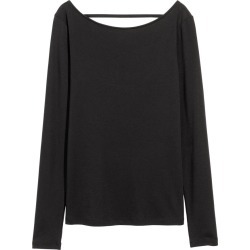 H & M - Lyocell-blend Jersey Top - Black found on Bargain Bro India from H&M (US) for $8.99