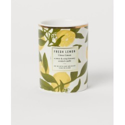 H & M - Scented Candle in Holder - Yellow