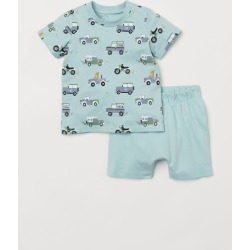 H & M - Cotton Pajamas - Turquoise found on MODAPINS from H&M (US) for USD $9.99