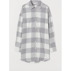 H & M - Long Shirt - Gray found on Bargain Bro India from H&M (US) for $12.99