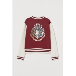 H & M - Printed Baseball Jacket - Red found on Bargain Bro India from H&M (US) for $29.99