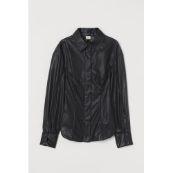 H & M - Tapered-waist Shirt - Black found on Bargain Bro India from H&M (US) for $25.99