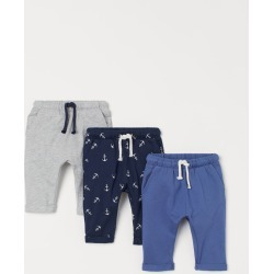 H & M - 3-pack Cotton Pants - Blue found on Bargain Bro from H&M (US) for USD $22.79