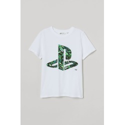 H & M - Printed T-shirt - White found on Bargain Bro from H&M (US) for USD $11.39