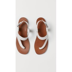 H & M - Leather Sandals - White