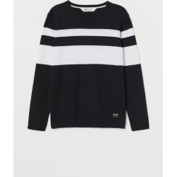 H & M - Fine-knit Cotton Sweater - Black found on Bargain Bro Philippines from H&M (US) for $14.99