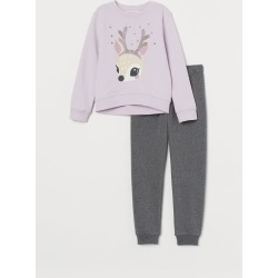 H & M - Sweatshirt and Pants - Pink