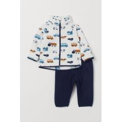 H & M - Fleece Jacket and Pants - Blue