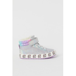 H & M - Faux Shearling-lined High Tops - Silver