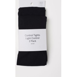 H & M - 2-pack Control-top Tights - Black found on Bargain Bro India from H&M (US) for $12.99