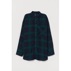 H & M - Checked Shirt - Green