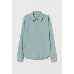 H & M - Stretch Shirt - Green found on Bargain Bro India from H&M (US) for $17.99