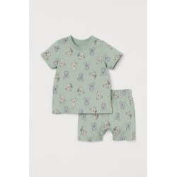 H & M - Cotton Pajamas - Green found on MODAPINS from H&M (US) for USD $9.99