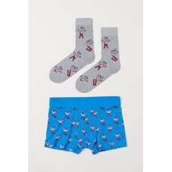 H & M - Boxer Shorts and Socks - Blue