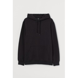 H & M - Relaxed-fit Hoodie - Black found on Bargain Bro India from H&M (US) for $24.99
