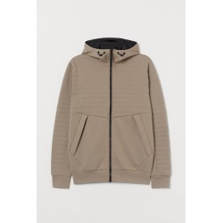 H & M - Hooded Track Jacket - Beige found on Bargain Bro from H&M (US) for USD $37.99