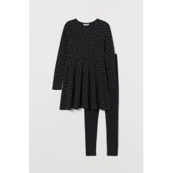 H & M - 2-piece Cotton Set - Black found on Bargain Bro Philippines from H&M (US) for $24.99