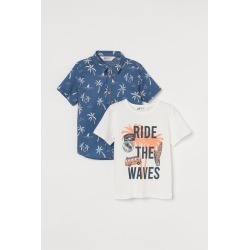 H & M - 2-piece Cotton Set - Blue found on Bargain Bro from H&M (US) for USD $11.39