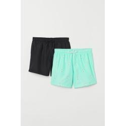 H & M - 2-pack Swim Shorts - Green