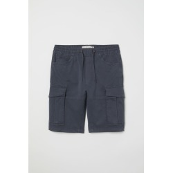 H & M - Cotton Cargo Shorts - Blue found on Bargain Bro India from H&M (US) for $23.99
