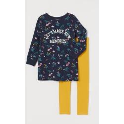 H & M - Sweatshirt and Leggings - Blue