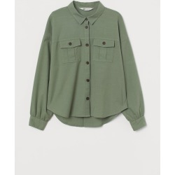H & M - Utility Shirt - Green found on Bargain Bro India from H&M (US) for $14.99