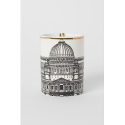 H & M - Scented Candle in Holder - White