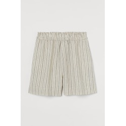H & M - Linen Shorts - Beige found on Bargain Bro from H&M (US) for USD $18.99