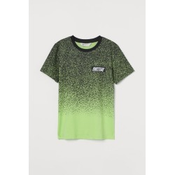 H & M - Printed T-shirt - Green found on Bargain Bro from H&M (US) for USD $7.59